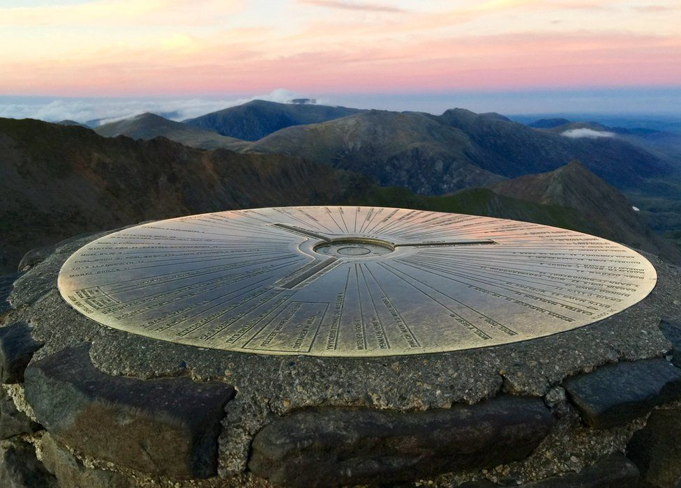 Trig point on Snowdon