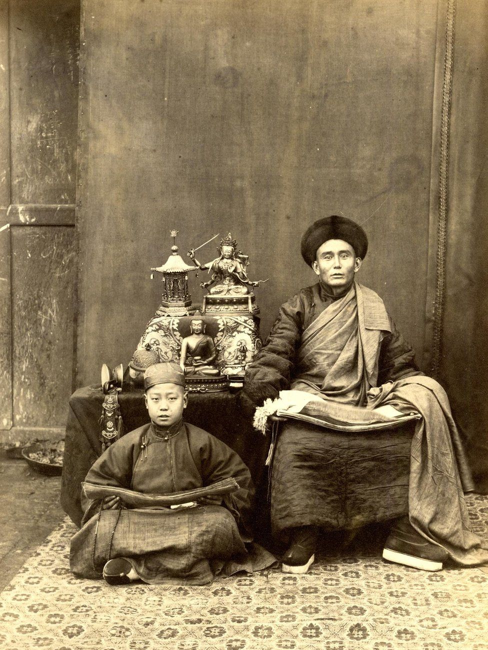 Thomas Child. No. 192 Mongolian Lama. 1870s. Albumen silver print.