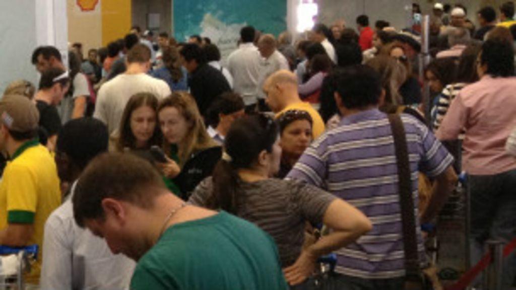 Aeroporto de Brasília vive caos um dia após abertura da Copa das ...
