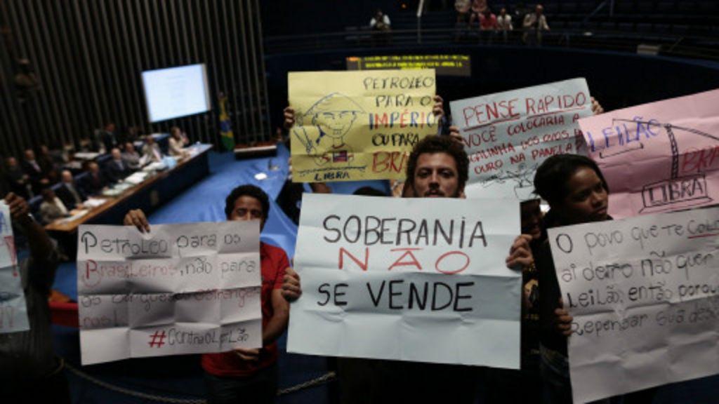 Polêmicas e protestos geram apreensão sobre leilão de Libra - BBC ...
