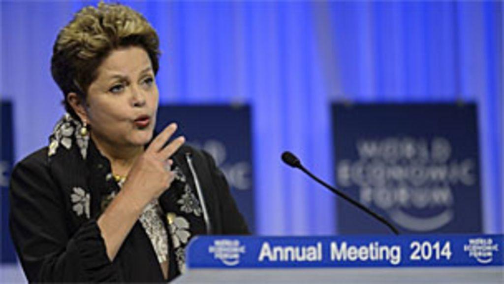 Em Davos, Dilma faz discurso sob medida, mas plateia espera ...