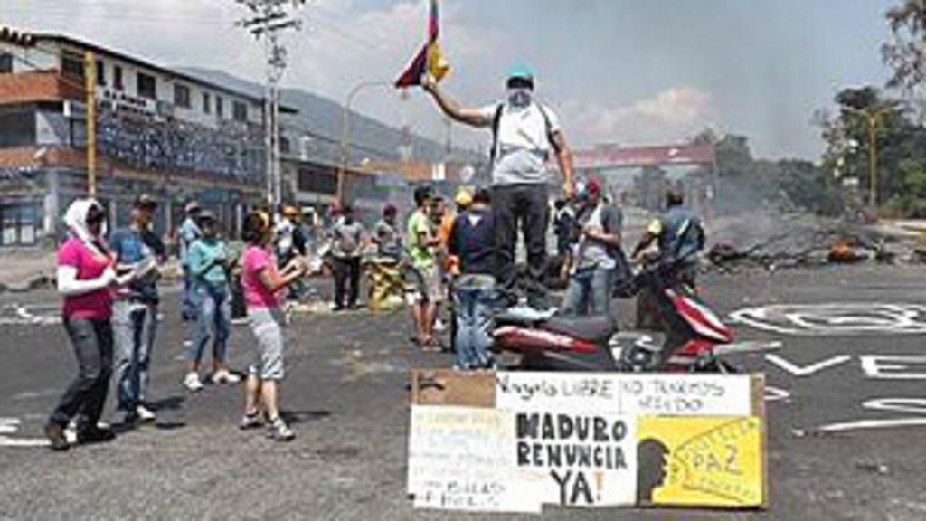 Protestos também abalam o interior da Venezuela - BBC Brasil