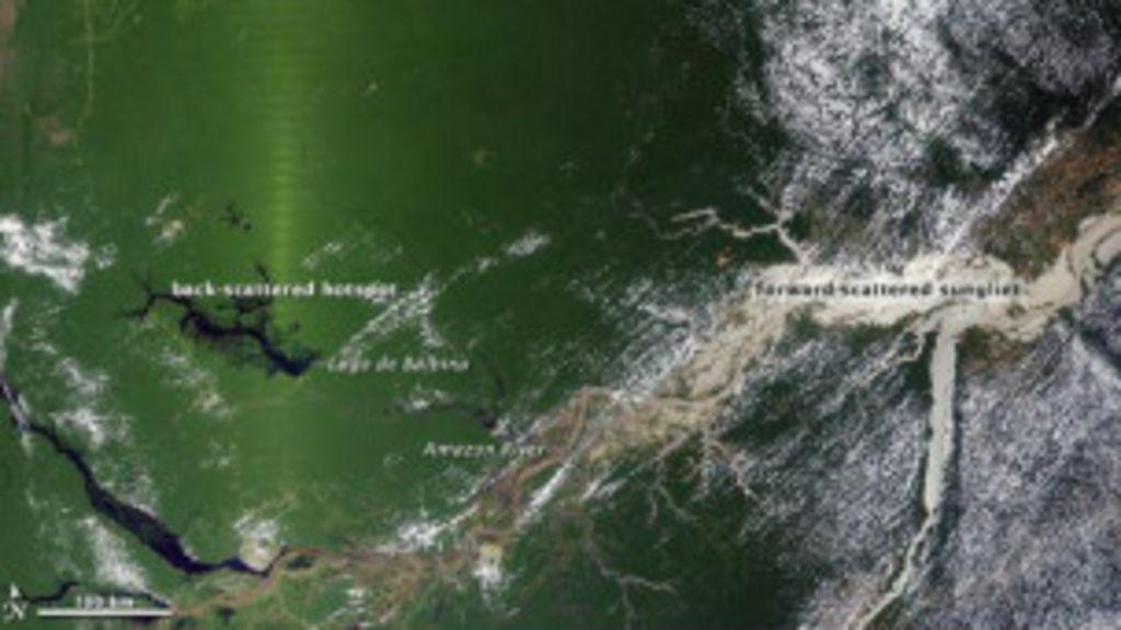 Reflexo do sol distorce imagens de satélite e faz Amazônia parecer ...