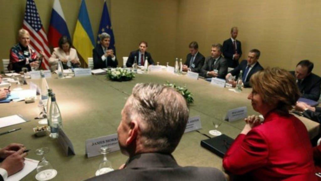 Acordo é fechado para amenizar tensões na Ucrânia - BBC Brasil