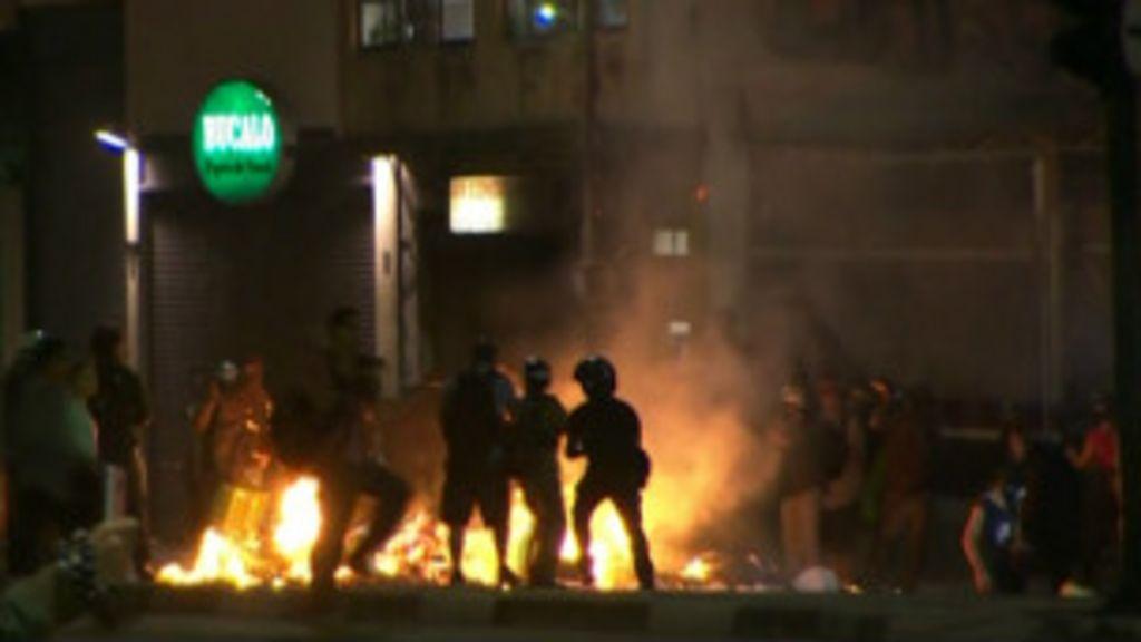 Centro de São Paulo vê cenas de violência em ato contra a Copa ...