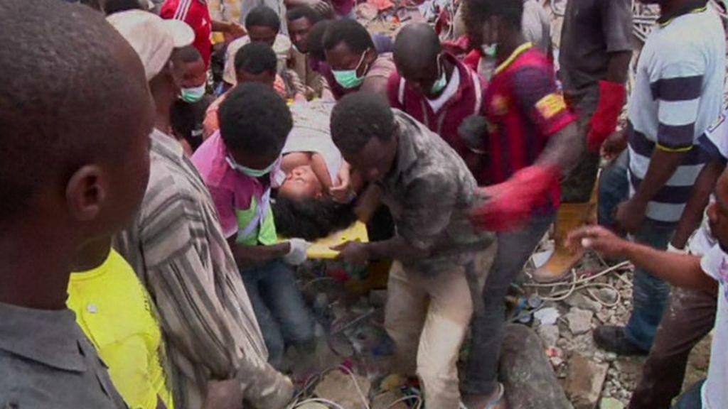 Vídeo mostra desabamento que matou 60 na Nigéria; busca por ...