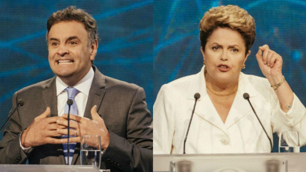 Bastidores do debate: Dilma e Aécio ficam frente a frente, mas ...