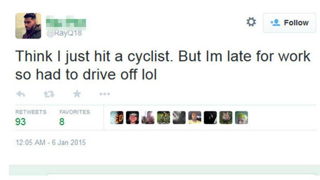 Britânico é demitido após tuitar piada sobre ciclista - BBC Brasil