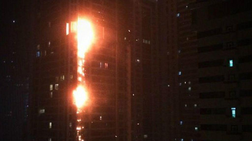 Incêndio atinge Marina Torch, um dos maiores prédios do mundo ...