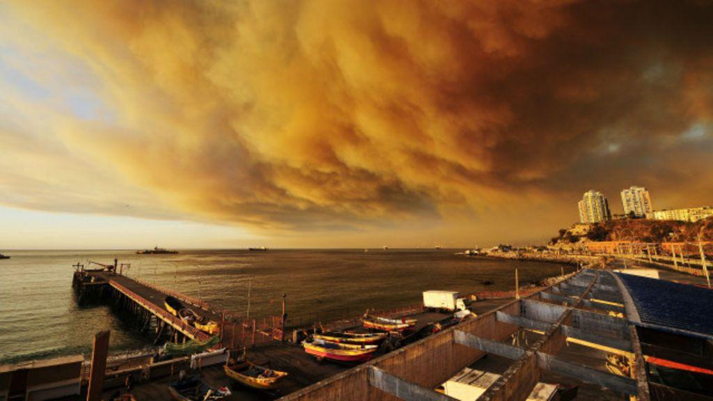Incêndio florestal de grandes proporções ameaça cidades chilenas ...