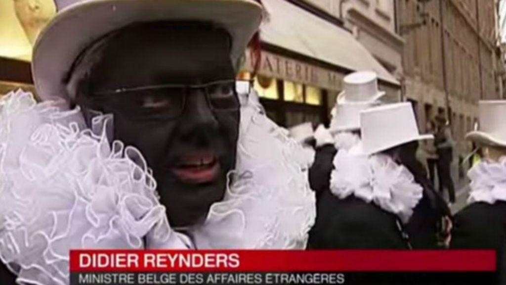 Chanceler belga pinta rosto de preto e causa polêmica - BBC Brasil