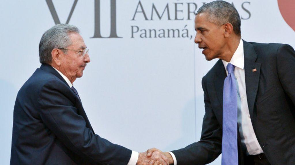 Em reunião histórica, Obama e Raúl Castro trocam afagos - BBC ...
