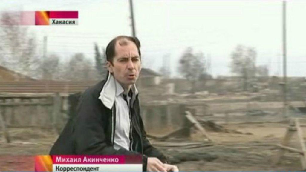 Jornalista de TV russa admite ter provocado incêndio para reportagem