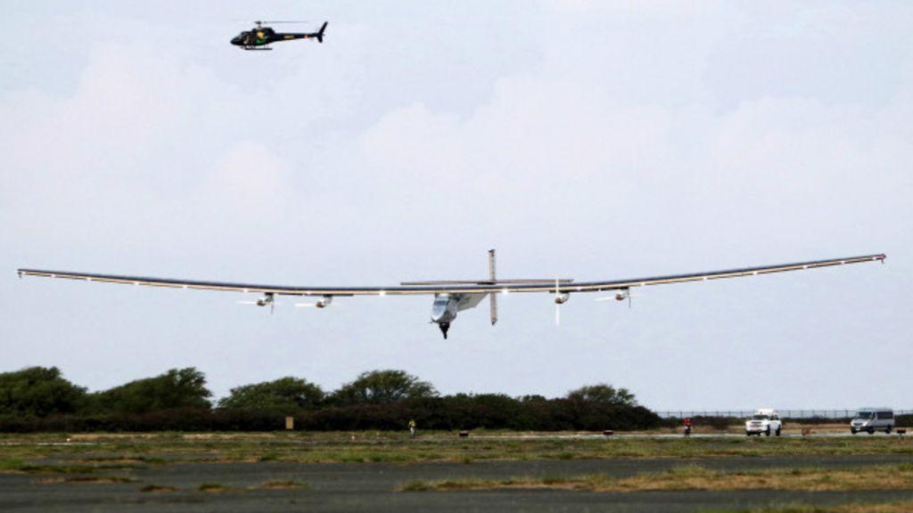 Avião solar faz pouso histórico no Havaí - BBC Brasil