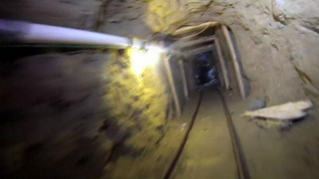 México descobre túnel de contrabando de drogas na fronteira com ...
