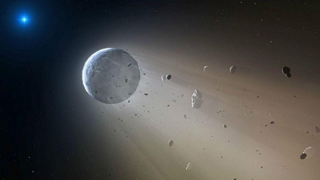 Desintegração de planeta perto de estrela morta sugere como será ...