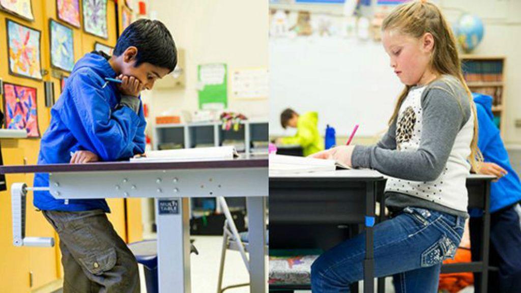 Contra sedentarismo, alunos passam o dia estudando em pé em ...