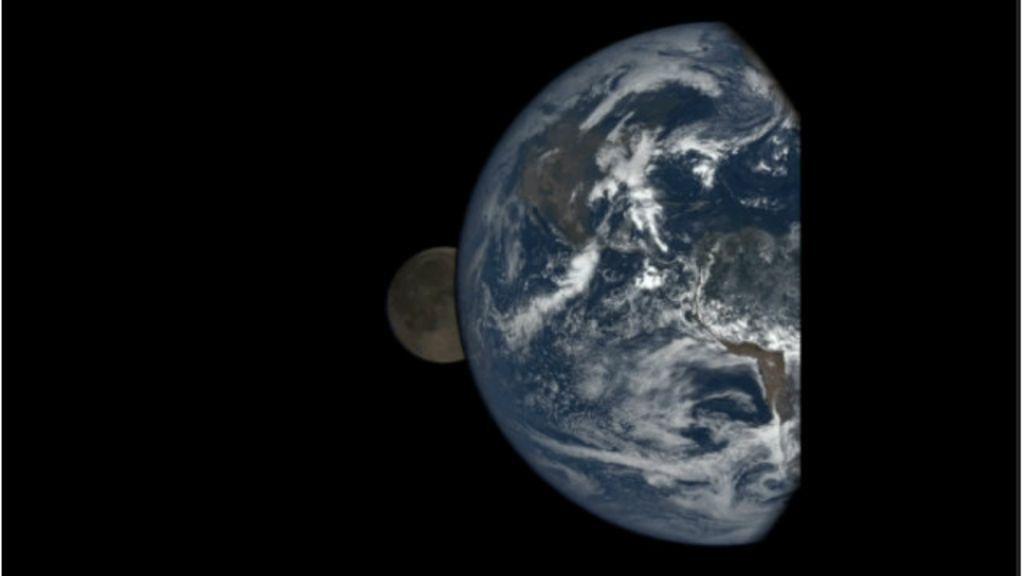 Câmera a 1,6 milhão de km da Terra faz registro único de eclipse ...