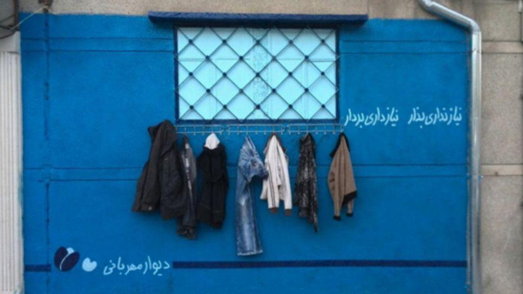 Iranianos criam ' muros da gentileza' para ajudar sem-teto - BBC Brasil