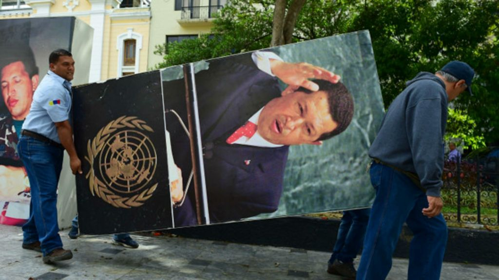 La polémica retirada de los retratos de Hugo Chávez de la ...