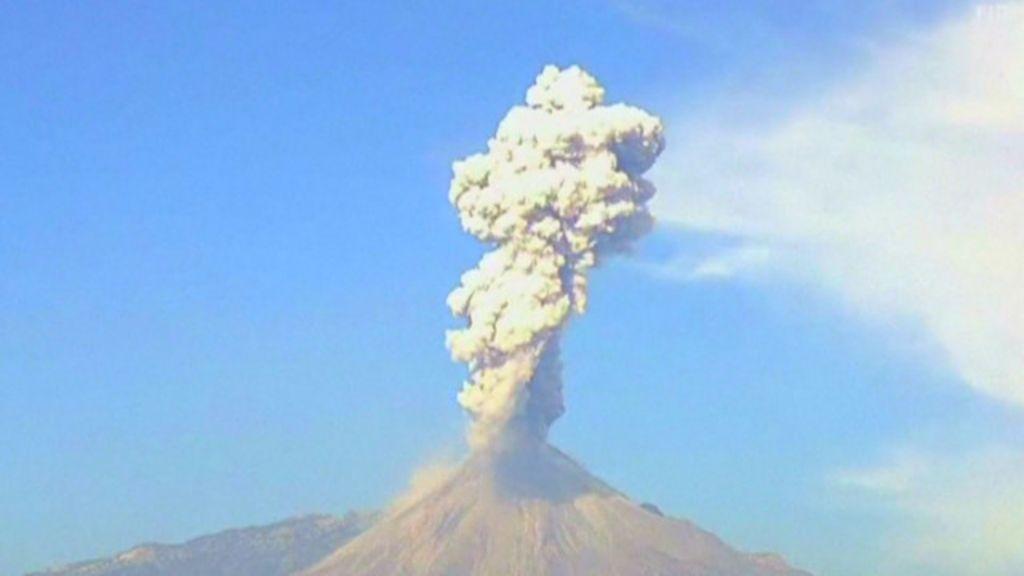 Vídeo mostra erupção de vulcão no México em câmera lenta - BBC ...