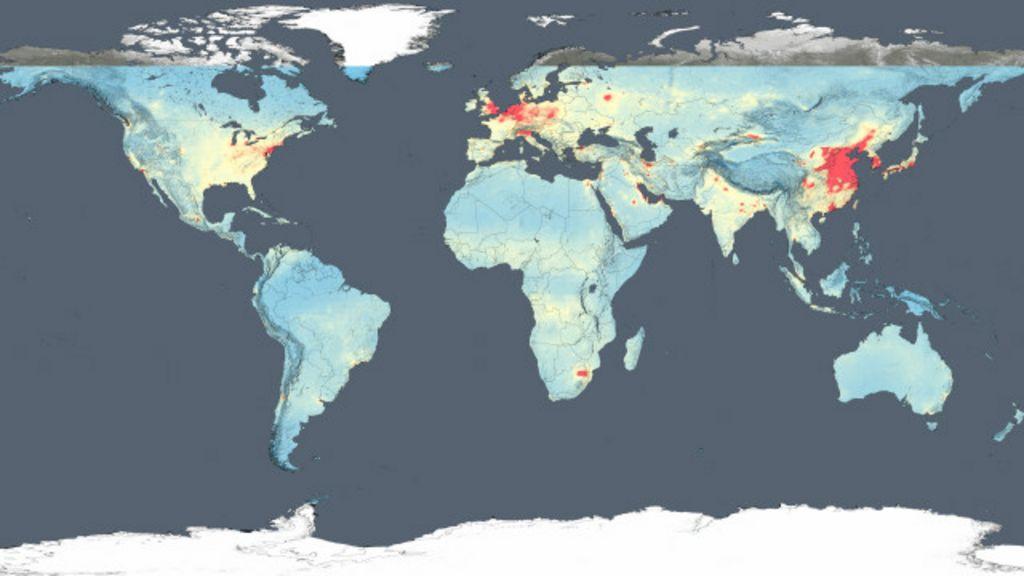 Imagens de satélite da Nasa mostram quais são os países mais ...