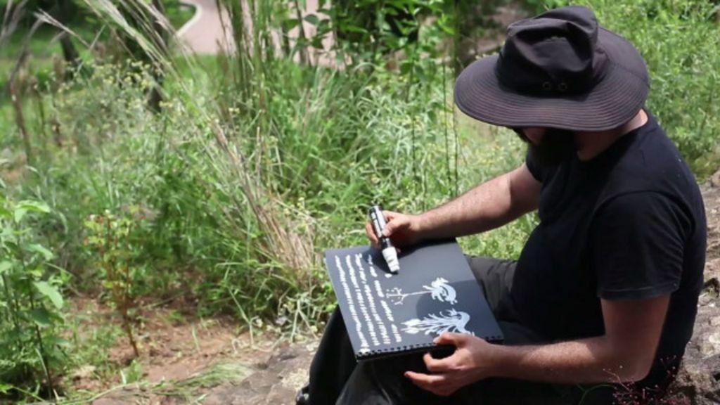 O artista que mapeia espécies de cerrado em São Paulo - BBC Brasil