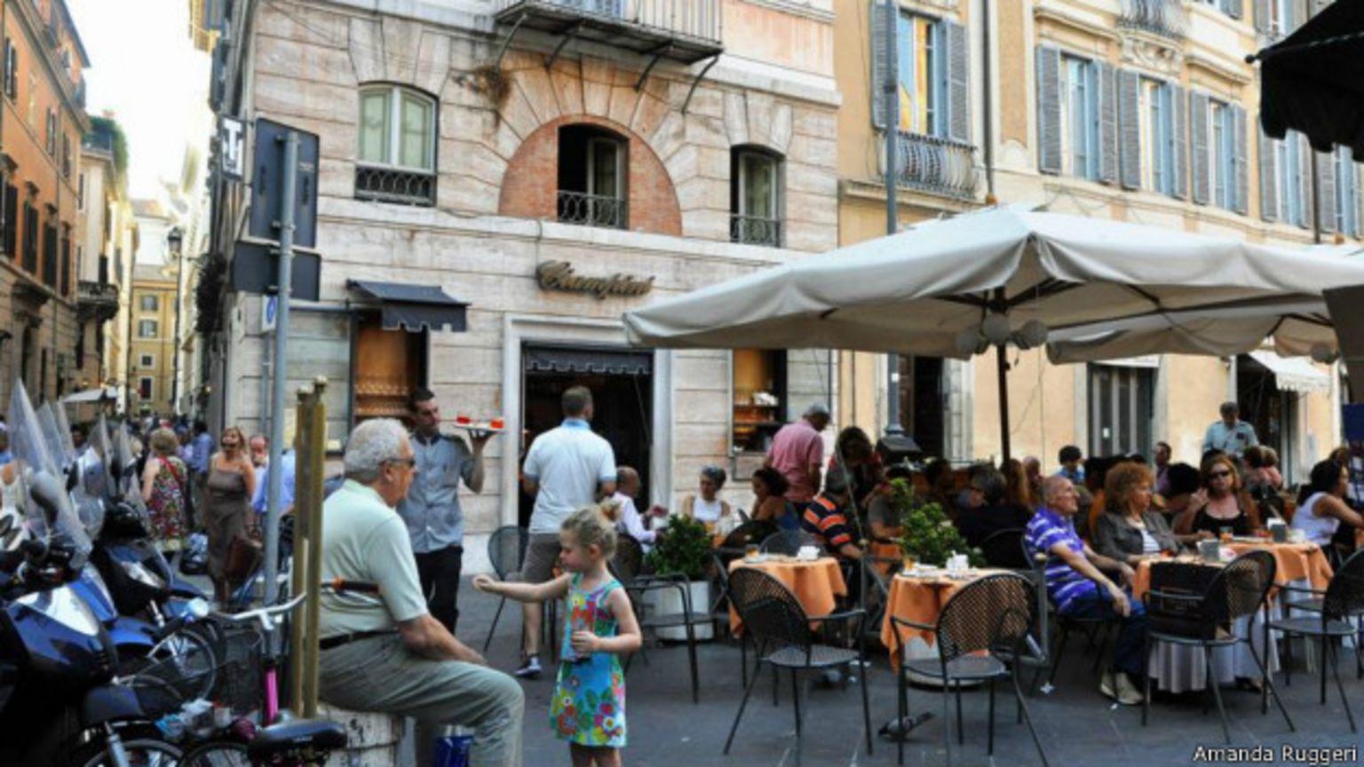 Café Ciampini, em Roma