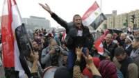 Manifestación de los partidarios de al Sisi