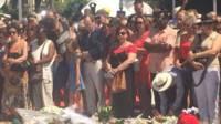 Le premier ministre Manuel Valls est venu à Nice pour la minute de silence à la mémoire des victimes