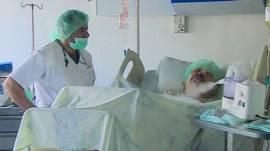 Refugiada siria en el hospital