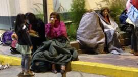 Evacuados en Chile