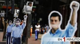 Figura de cartón de Leopoldo López en Caracas