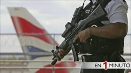 Seguridad en el aeropuerto de Heathrow en Londres