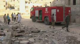 Escombros en Gaza tras bombardeo israelí