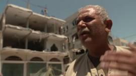 Dueño de casa destruida por ataque de Israel