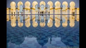 Masjid Agung Sheikh Zayed karya Dhafer Al shehri/National Geographic Traveler Photo Contest
