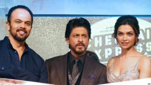 रोहित शेट्टी, शाहरुख़ ख़ान और दीपिका पादुकोण