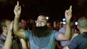 Seguidor de la Hermandad Musulmana protestando, AFP