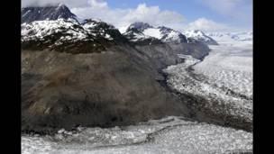 Glaciar Columbia, Alaska, EE.UU, 23 de junio de 2006