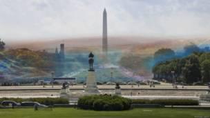 Se ondas fossem perceptíveis ao olho humano, assim elas seriam vistas em Washington, diz Nickolay Lamm.