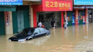 चीन में बाढ़