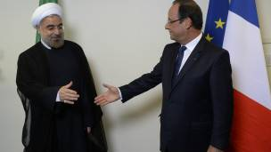 Hollande y Rohani