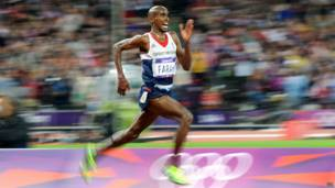 Mo Farah, double Olympic champion