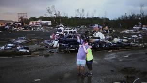 Afectados por los tornados