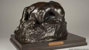 La Danaide de Auguste Rodin. Bowman sculpture/Cadwell Douglas.