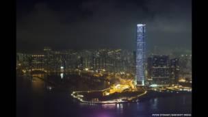 Una vista del Centro de Comercio Internacional en Kowlong