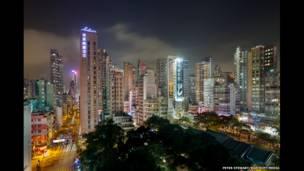 Torres residenciales y hoteles en el área de Yau Ma Tei, en Kowloon
