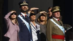 Miembros de la familia real española