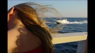 Pelo en el viento